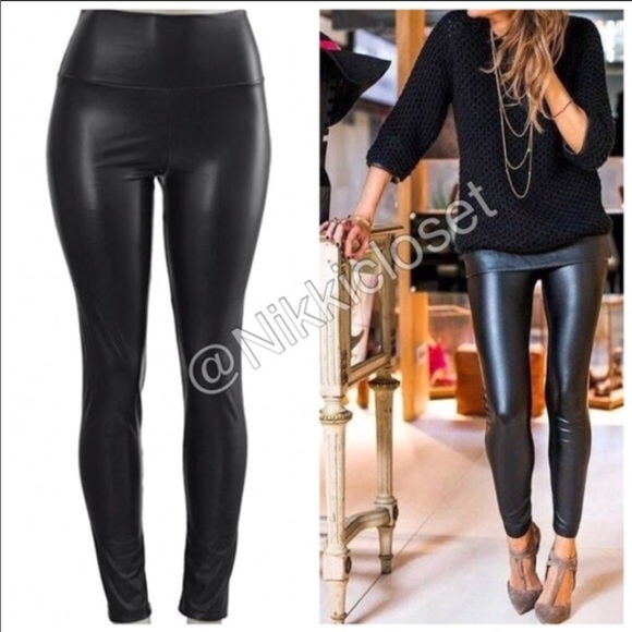 8d748ec0d15353 Pants | Last Black High Waist Faux Leather Leggings Lined | Poshmark